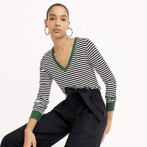 Universal Standard for J Crew Jersey striped top